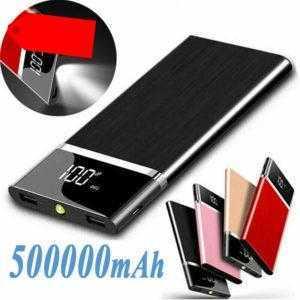 500000mAh PowerBank 2 USB Externer Ladegerät Zusatzakku Charger