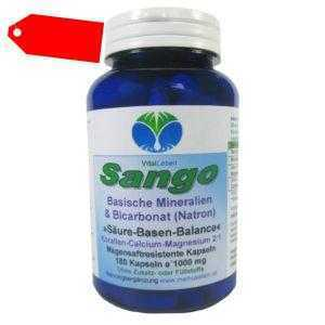 Sango basische Mineralien + Bicarbonat (Natron) 180 Kapseln. 25058