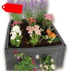 UPP Multifunktions Hochbeet anthrazit/ Komposter Sandkasten Frühbeet Blumenbeet