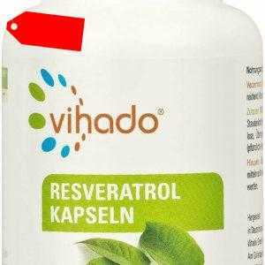 Vihado Resveratrol Kapseln hochdosiert echtes Trans-Resveratrol 33,1g 90 Kps