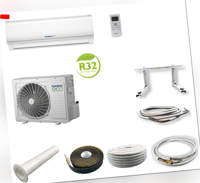 Kaisai ECO Inverter Klimaanlage 3,5 kW 12000 BTU Split Klimagerät mit Montageset; EEK A++