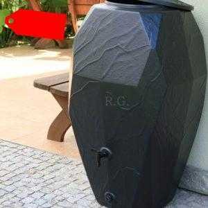 Regentonne Regenwassertonne Regenbehälter Regenfass 300L und 310L Anthrazit