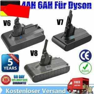 4,0AH 6.0AH 21.6V Akku Batterie Für Dyson V8 V7 V6 Handstaubsauger Sony Cell