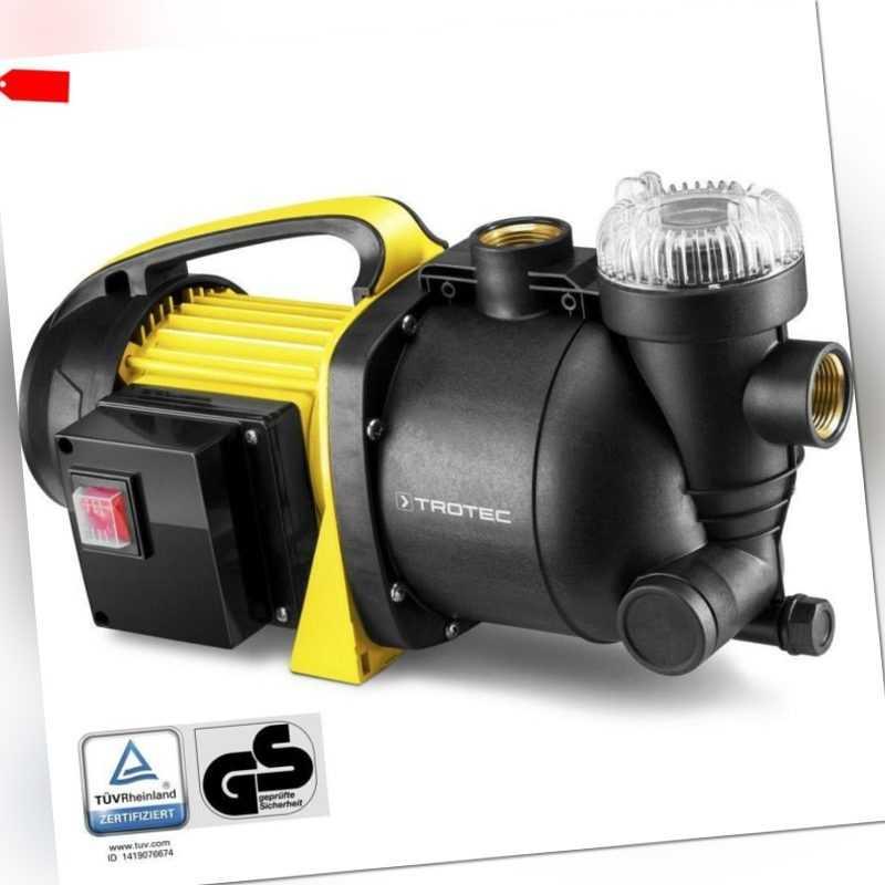 TROTEC Gartenpumpe mit Filter TGP 1005 E Wasserpumpe Pumpe Rasensprenger
