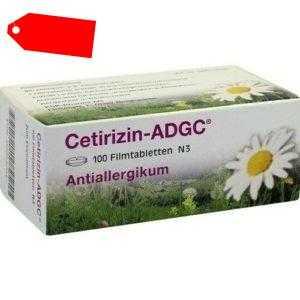 CETIRIZIN ADGC Filmtabletten 100 St 02663704