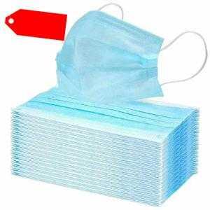 50 x Einmal-Mundschutz 3-lagig Mundschutzmaske Infektionsschutz Atemschutz