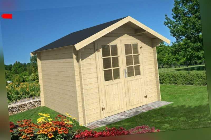 28mm Gartenhaus 300x300 cm Gerätehaus Holzhaus Holz Blockhaus Schuppen Hütte Neu