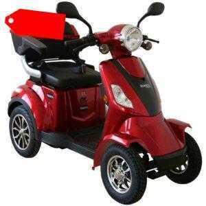 Rolektro E-Quad 25 Rot 1000W Seniorenmobil Elektroroller Elektromobil Rollstuhl