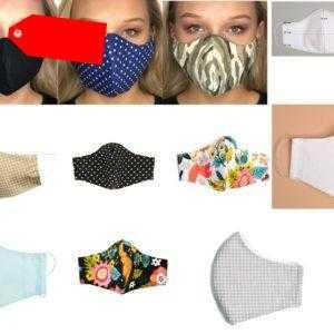 Maske Mundmaske  Gesichtmaske  unisex Baumwolle waschbar Eu Ware Neu