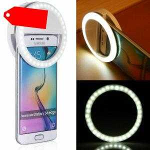Selfie Licht Ring Handy Blitz Flash Light mit 36 LED Für iPhone Samsung Huawei