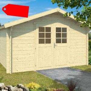 34 mm Gartenhaus AKTION ca. 400x300 cm Gerätehaus Blockhaus Holz Haus Holzhaus
