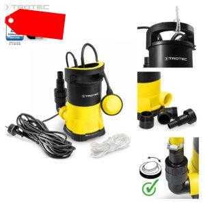 TROTEC Tauchpumpe TWP 4005 E | Gartenpumpe Wasserpumpe Klarwasser Flachsaugend