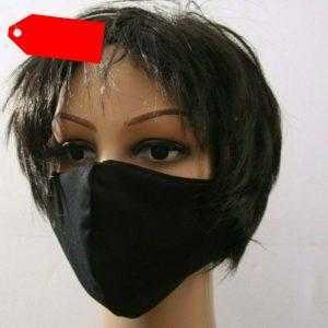 Neu mehrweg Gesichtsmaske Mund- und Nasenbedeckung Schwarz Baumwolle