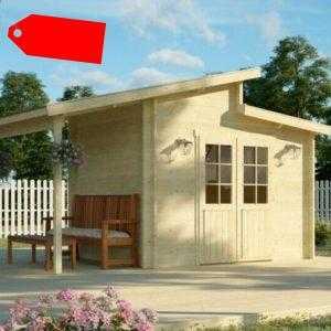 Gartenhaus 40 mm Thun 300x200 cm +Schleppdach 158 cm, inkl. Fußboden Stufendach