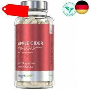 Apfelessig Kapseln - 1500mg Apple Cider Vinegar hochdosiert, Für Abnehmen