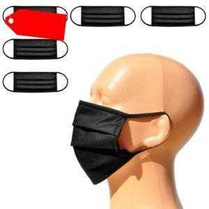 5 Stück Maske Mundschutz Gesichtsmaske  Waschbar Weiß Schwarz Polypropylen M07