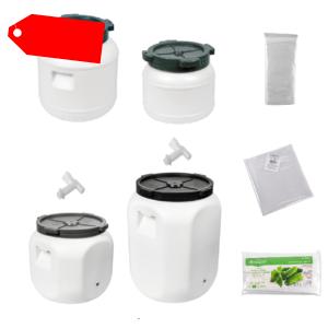 Kunststofffass 5-60L Gärbehälter Regenfass Deckelfass Fass für Kohl Gurken Tonne
