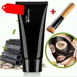 Reinigende Maske Deep Cleanser Mitesser Remover Peel-off Maske + Holz Pinsel