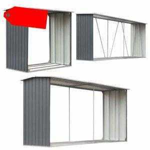 vidaXL Brennholzlager Stahl Kaminholzunterstand Brennholzregal mehrere Auswahl