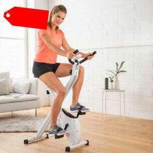"Heimtrainer Fahrrad ""Go"" faltbar Trimmrad Fitnessbike Fitnessgerät  Home"