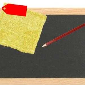 Schiefertafel + Griffel + Lappen Schreibtafel  22x29 cm Schultafel echter Schief