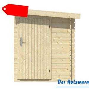 44 mm Blockhüttenanbau ca. 160x300 cm Gerätehaus Anbau Schuppen Holzanbau Holz