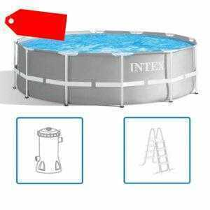 Intex Swimming Pool Komplettset Stahlwand 366x99 cm Schwimmbecken Schwimmbad