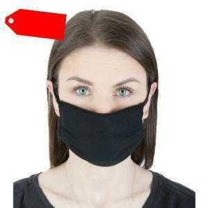 5 Stück Maske Mundschutz Gesichtsmaske Waschbar Weiß Schwarz Bauwmolle M08