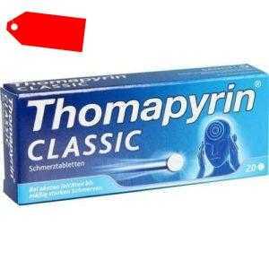 THOMAPYRIN CLASSIC Schmerztabletten 20 St 03046735