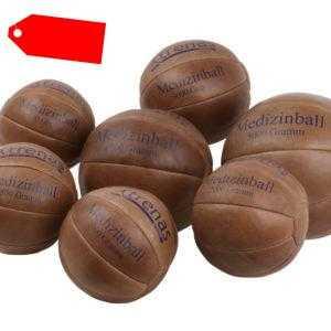 Medizinball trenas aus Leder - Gymnastik - Kraft - Fitness - Ball - 0,8 bis 5 kg