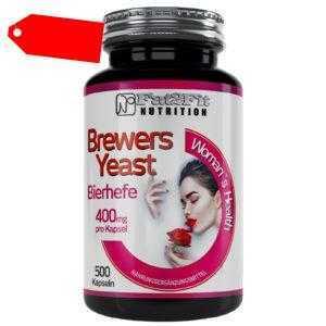 Bierhefe 500 Kapseln je 400mg XXL Inhalt Fat2Fit Nutrition Anti Aging Haare Haut