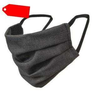 Mundschutz Baumwolle Hygiene Nasen Mundbedeck 2 Schichten Anthrazit