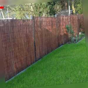 Weidenmatte Sichtschutz Matte Windschutz Weidenzaun Weide Zaun Matten Garten