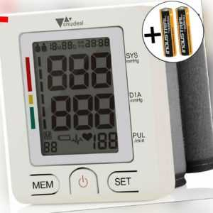 Digital Blutdruckmessgerät Handgelenk Blutdruck, 2 Benutzer und 99 Speicher