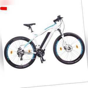 "NCM Moscow Plus 48V 27,5"" E-MTB Mountainbike 16Ah 768Wh Panasonic Akku weiß"