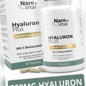 Hyaluronsäure Kapseln - Anti-Aging & Gelenke - 500 mg Hyaluron - 90 Kapseln
