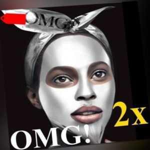 OMG! Platinum Silver Regeneration Facial Mask Trendige Gesichtsmaske WoW! 2er