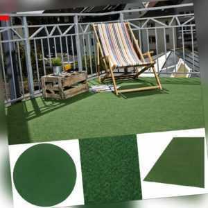 Kunstrasen Rasenteppich Grün Kunstgras Rund Nadelfilz Noppen Außen Innen Outdoor