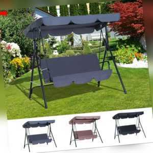Outsunny Hollywoodschaukel Gartenschaukel 3-Sitzer mit Dach Stahl 3 Farben