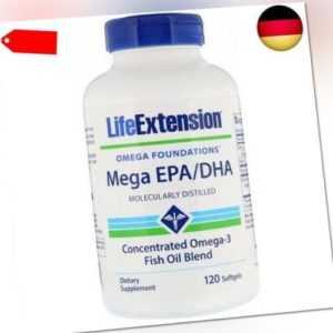 Life Extension, Mega EPA/DHA, 120 Weichkapseln
