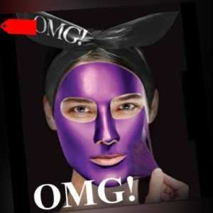 OMG! Platinum Purple Facial Mask Trendige Gesichtsmaske 3 in 1 WoW!