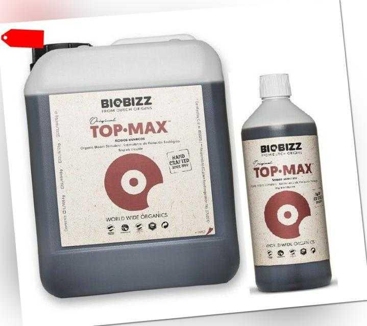 BioBizz  TopMax 250ml / 500ml / 1 L / 5 Liter Top max grow Blütestimmulator