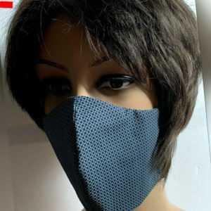 Neu mehrweg Gesichtsmaske Mund- und Nasenbedeckung Grau Schwarz Punkte Baumwolle