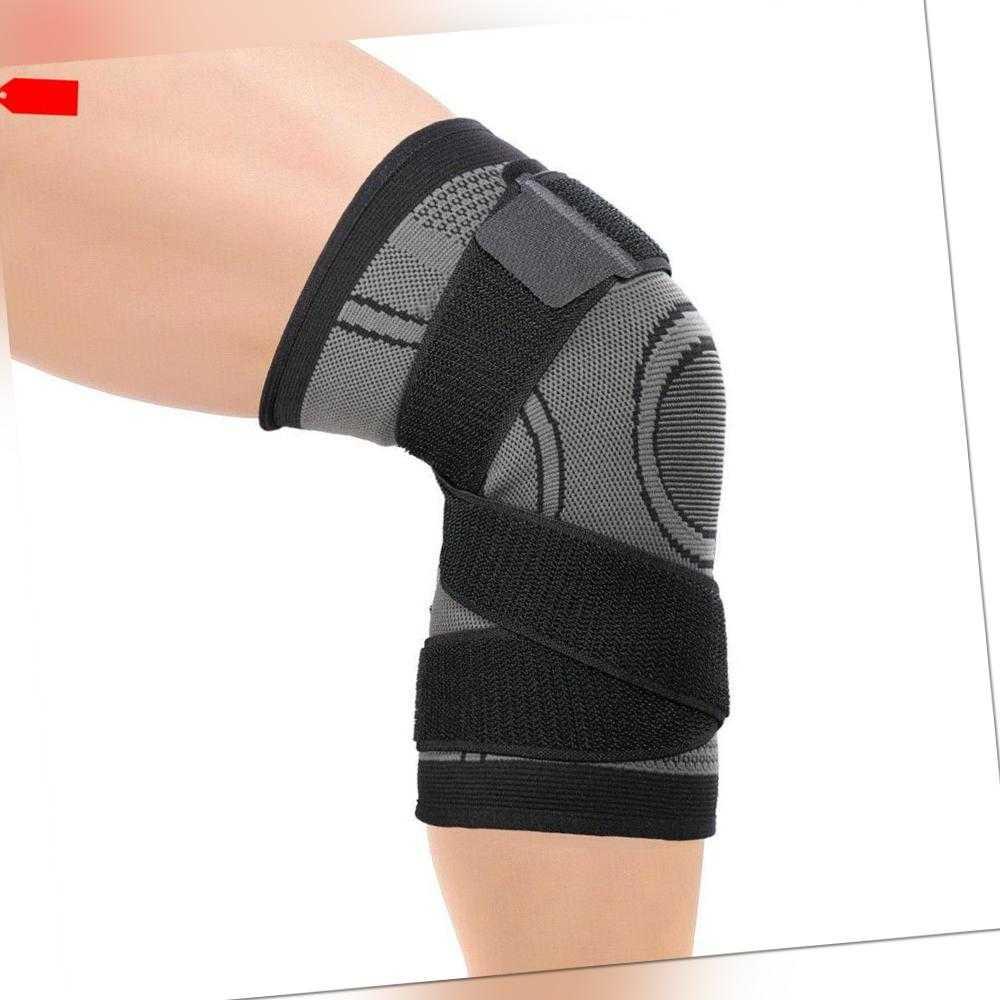 Sport Kniebandage Kniestütze Knie Schmerzen Kompression Knieschoner Fitness U0I0
