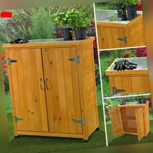 Geräteschrank Gerätehaus Gartenschuppen Schrank Schuppen Gartenschrank + 2 Türen