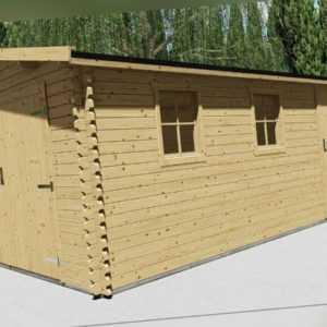 Holzgarage 40mm Garage Holz mit Holztor  3.9x5.8M -  Vigo EB40013