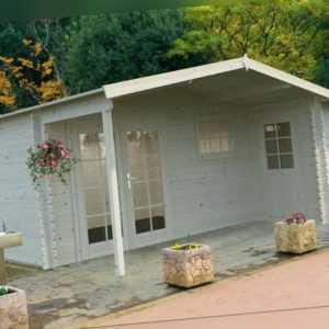 34mm Gartenhaus 530x450 cm Gerätehaus Holzhaus Holz Blockhaus Schuppen Hütte Neu