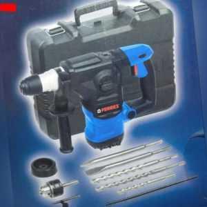 Ferrex Bohrhammer 1500W Meißelhammer/Schlagbohrer Koffer+Zubehör 230V