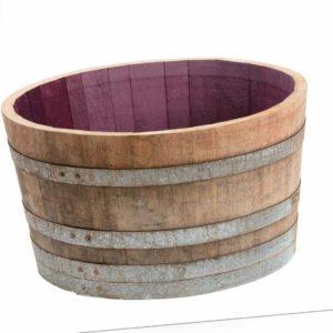 D 70cm 1/2 Holzfass, Pflanzkübel, halbes Fass, Fässer, Weinfass Miniteich Kübel