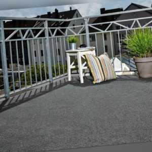 Kunstrasen Grau Rasenteppich 2m 16 Längen Noppen Fertigrasen Teppichboden Balkon